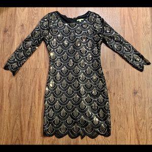 Gianna Bini sequin Art Deco dress